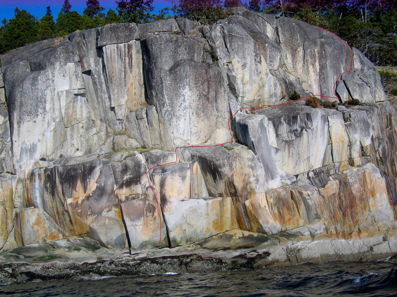 Rock Climbing Photo: Taken from a canoe trip past the wall. Connect the...