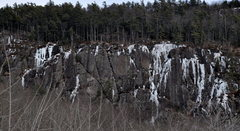Rock Climbing Photo: Ice at Barrett's in thin conditions...