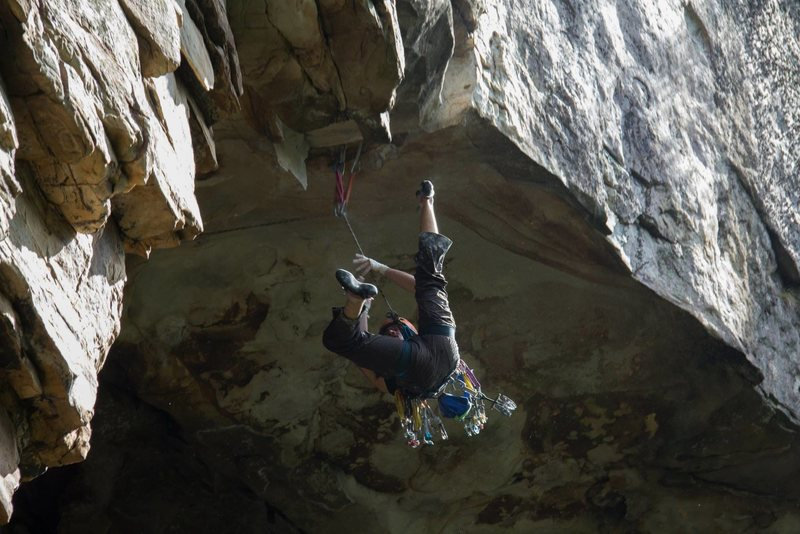 Not sticking the crux<br> Sebastian Rogers photo