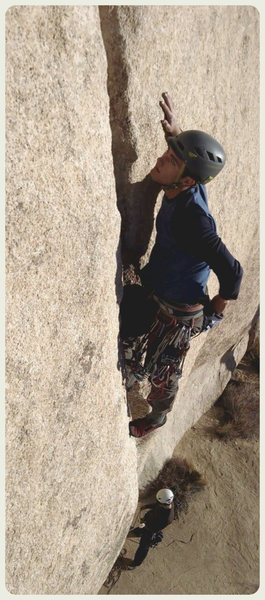 Rock Climbing Photo: Turner leading
