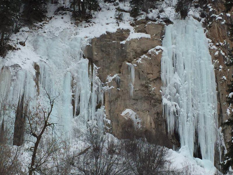 Rock Climbing Photo: Rifle ice