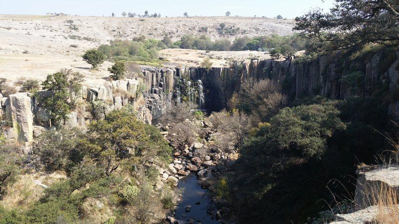The cascade at Aculco.