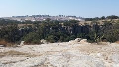 Rock Climbing Photo: Looking from the parking area on the side of the r...