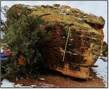 Rock Climbing Photo: Think Like A Chimp problem beta.