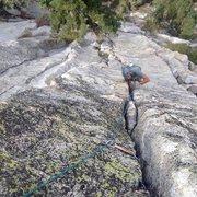 Rock Climbing Photo: Jonathan Reinig following P1!