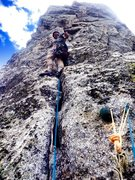 Rock Climbing Photo: Jonathan Reinig starting up P2!!!