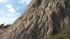 Rock Climbing Photo: A view of a portion of the south face of Pena de B...