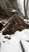 Rock Climbing Photo: Birds of Fire rockfall. Fallen block on trail.
