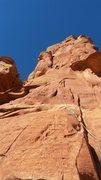 Rock Climbing Photo: Sean flashing P1!