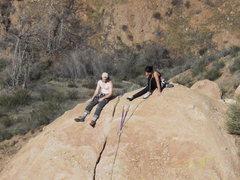 Rock Climbing Photo: A climbing part relaxing on the summit admiring &q...