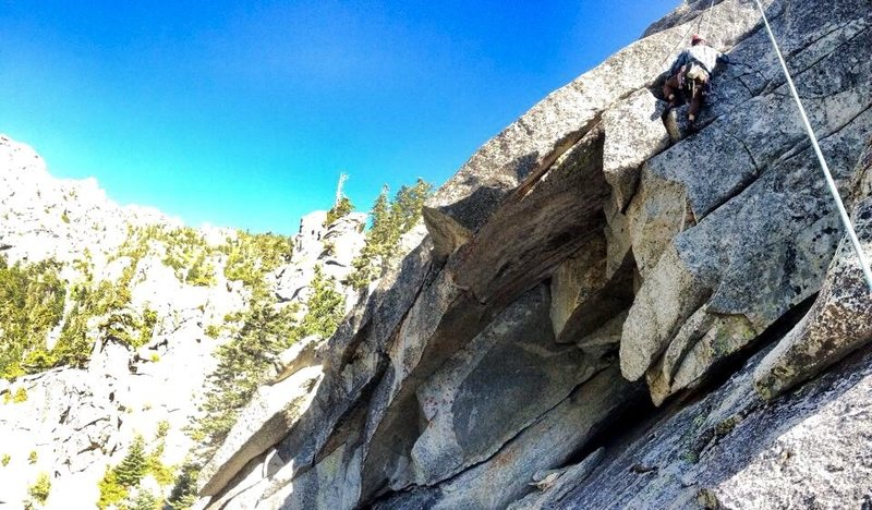 Huy Nguyen on the first ascent of the <br> Murder Horn!!!
