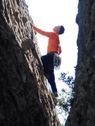 "Rock Climbing Photo: Leader on ""Betty Does Brownsville."""