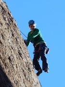 "Rock Climbing Photo: Some fancy footwork on ""Itsy Bitsy Spider.&qu..."