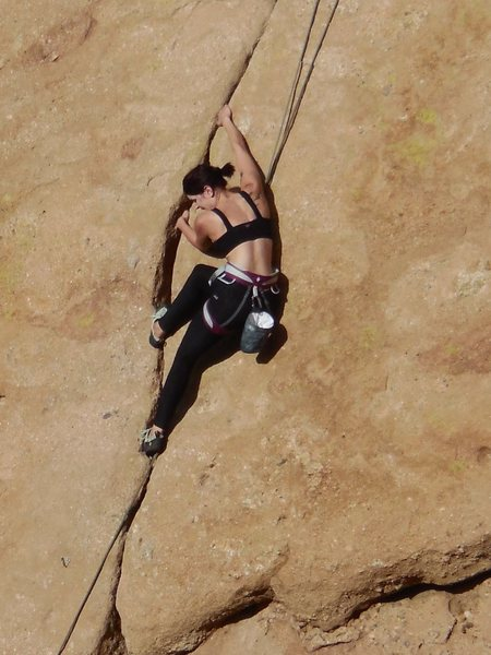 "Rock Climbing Photo: Turning a jam crack into a lieback, on ""Humpt..."