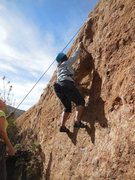 "Rock Climbing Photo: Working the opening moves of ""Burnt Sugar.&qu..."