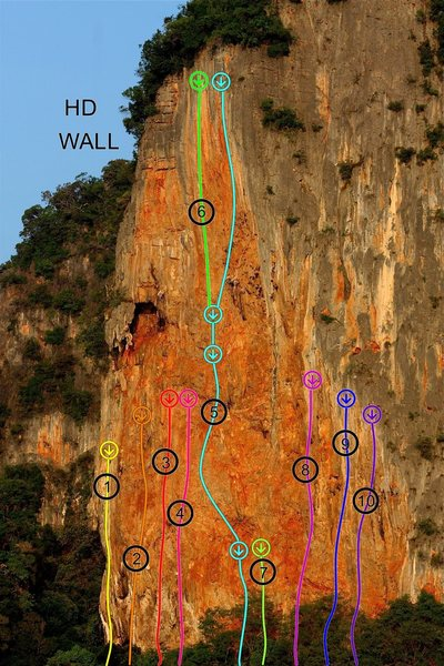 HD WALL routes