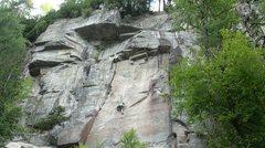 Rock Climbing Photo: Dernier reach avant d'arriver à la vrai première...