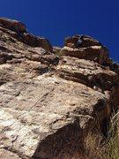 Rock Climbing Photo: Big roof. Fun climb.