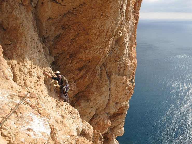 Rock Climbing Photo: Jeremy Nelson arriving at the lower-off point afte...