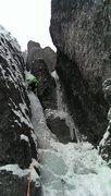 Rock Climbing Photo: Erik leading Slippery When Wet