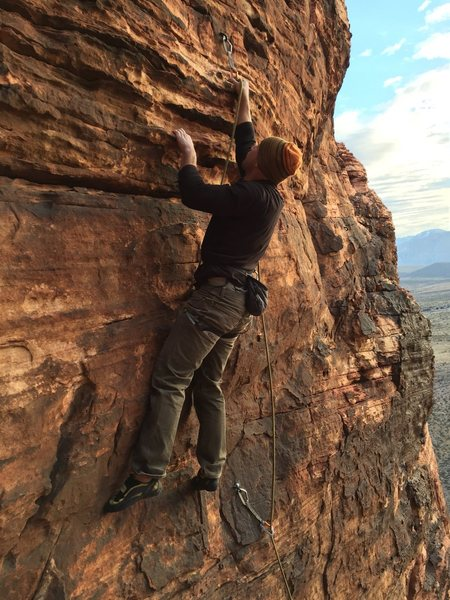 New Mexico Ben setting up to pull the bulge, OS lead.