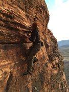Rock Climbing Photo: Ben pulling slight bulge on Celestial Spheres.