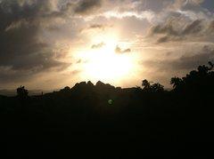Rock Climbing Photo: Sunset from Plum Tree Villa