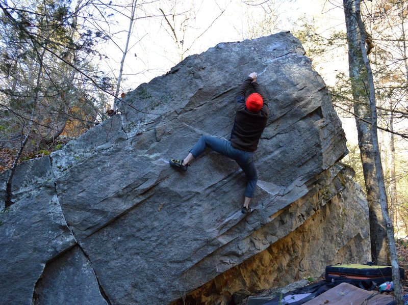 Rock Climbing Photo: Aaron Write on the 2nd ascent of Strawberrita Drea...