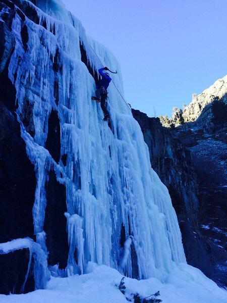 Rock Climbing Photo: Sunny Falls
