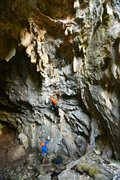 Rock Climbing Photo: So good... Smiles all the way to the anchor on thi...
