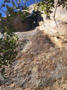 Rock Climbing Photo: First crux. Probably easier if you're taller. I fo...