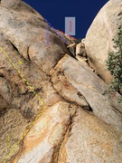 Rock Climbing Photo: Start of April Showers. Start is on top of the blo...