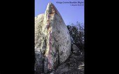 Upper KinderCare/ Crispy Creme Boulder/ Angular Arete V3