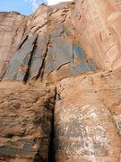 Rock Climbing Photo: Standing at the anchors to the right of the wide c...