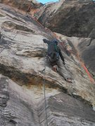 Rock Climbing Photo: Had to tie off and ascend with a gri gri after the...