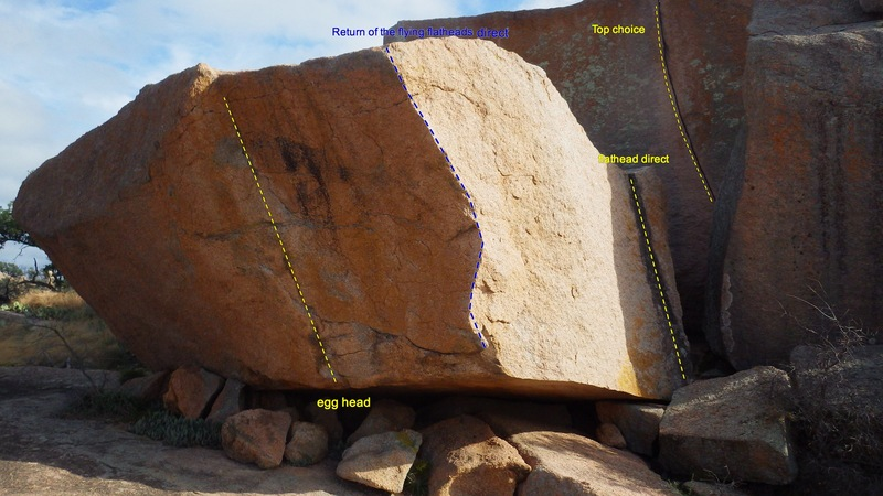 Rock Climbing Photo: The North face of flathead with top choice (5.10-)...