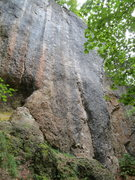 Rock Climbing Photo: Sautanz begins up the major crack system, and the ...
