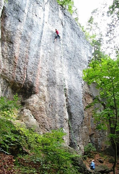 Rock Climbing Photo: The crux traverse.