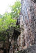 Rock Climbing Photo: Enjoying the immaculate, albeit brief, headwall.