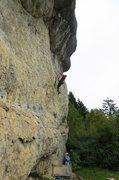 Rock Climbing Photo: The moderate start of Goldenes Dach.