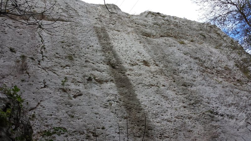 Rock Climbing Photo: Looking up from the foot of Brucoli crag.  Down in...