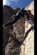 Rock Climbing Photo: Partner on kangaroo corner 11a, squamish
