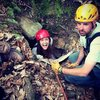 Rappelling into a cave in the Hocking Hills