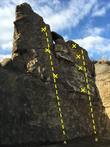 Rock Climbing Photo: Beginner Rock  A - ? B - Easy Peasy 5.4