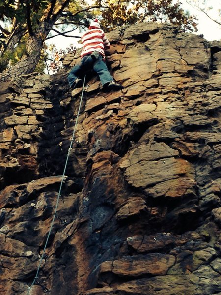 Rock Climbing Photo: Where's Waldo? On the North 40 at HCR!