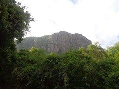 Rock Climbing Photo: Cliff Face on Manyara Escarpment.