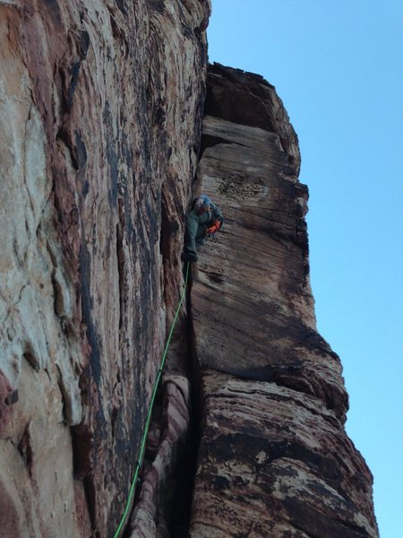 Rock Climbing Photo: Running up Unnamed Corner in the first Pullout at ...