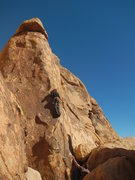 Rock Climbing Photo: Jesse leading Gandy for a warmup