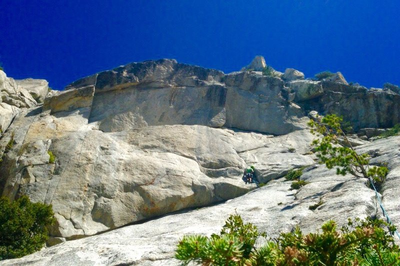Rock Climbing Photo: Looking up at the Amphitheater head wall attemptin...
