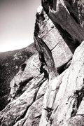 Rock Climbing Photo: Jonathan Reinig on Arch Angel Dihedral!